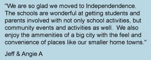 Independence, Iowa resident testimonial